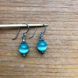 Beautiful turquoise bead earrings from Hawaii!